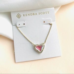 Kendra Scott Ari Dichroic Glass heart necklace